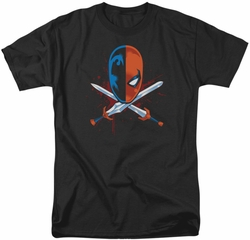 Deathstroke t-shirt Crossed Swords mens black