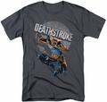 Deathstroke t-shirt Retro mens charcoal