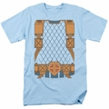 Deathstroke t-shirt uniform costume mens light blue