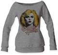 Debbie Harry Retro Debbie juniors wideneck fleece heather grey womens pre-order