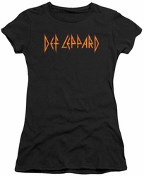 Def Leppard juniors sheer t-shirt Horizontal Logo black