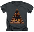 Def Leppard kids t-shirt Distressed Logo charcoal