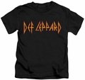 Def Leppard kids t-shirt Horizontal Logo black