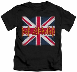 Def Leppard kids t-shirt Union Jack black