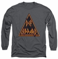 Def Leppard long-sleeved shirt Distressed Logo charcoal