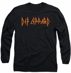 Def Leppard long-sleeved shirt Horizontal Logo black
