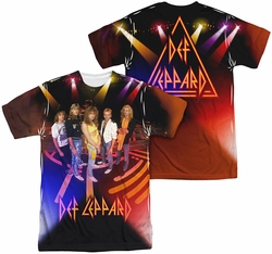 Def Leppard mens full sublimation t-shirt On Stage