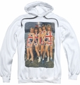 Def Leppard pull-over hoodie Flag Photo adult white