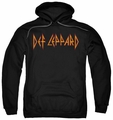 Def Leppard pull-over hoodie Horizontal Logo adult black