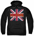 Def Leppard pull-over hoodie Union Jack adult black