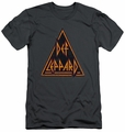 Def Leppard slim-fit t-shirt Distressed Logo mens charcoal