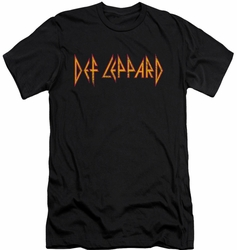 Def Leppard slim-fit t-shirt Horizontal Logo mens black