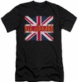 Def Leppard slim-fit t-shirt Union Jack mens black