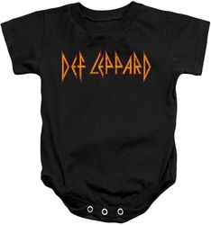 Def Leppard snapsuit Horizontal Logo black