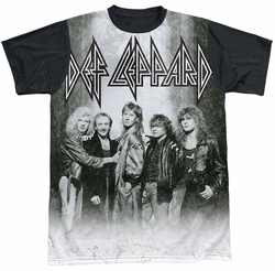 Def Leppard sublimated t-shirt The Band short sleeve