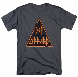Def Leppard t-shirt Distressed Logo mens charcoal