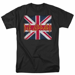 Def Leppard t-shirt Union Jack mens black