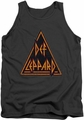 Def Leppard tank top Distressed Logo adult charcoal