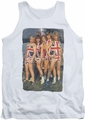 Def Leppard tank top Flag Photo adult white