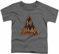 Def Leppard toddler t-shirt Distressed Logo charcoal