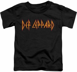 Def Leppard toddler t-shirt Horizontal Logo black
