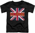 Def Leppard toddler t-shirt Union Jack black