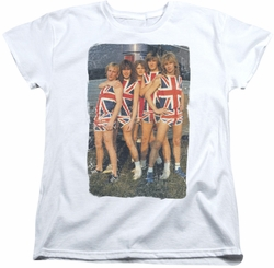Def Leppard womens t-shirt Flag Photo white