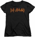 Def Leppard womens t-shirt Horizontal Logo black