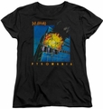 Def Leppard womens t-shirt Pyromania black