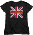 Def Leppard womens t-shirt Union Jack black