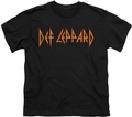 Def Leppard youth teen t-shirt Horizontal Logo black