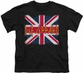 Def Leppard youth teen t-shirt Union Jack black
