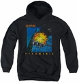 Def Leppard youth teen hoodie Pyromania black