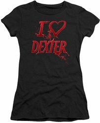 Dexter juniors t-shirt I Heart Dexter black