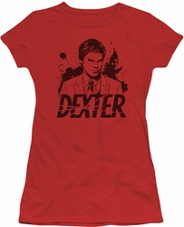 Dexter juniors t-shirt Splatter Dex red
