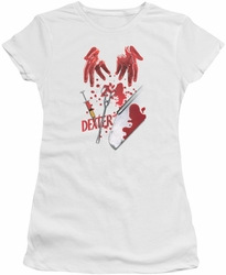 Dexter juniors t-shirt Tools Of The Trade white