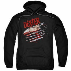 Dexter pull-over hoodie Blood Never Lies 2 adult black