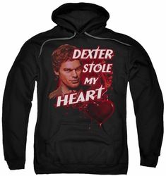 Dexter pull-over hoodie Bloody Heart adult black