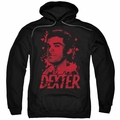 Dexter pull-over hoodie Born In Blood adult black