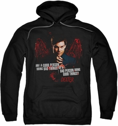 Dexter pull-over hoodie Good Bad adult black