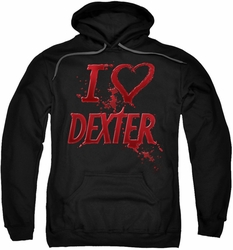 Dexter pull-over hoodie I Heart Dexter adult black