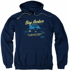 Dexter pull-over hoodie Moonlight Fishing adult navy
