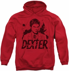 Dexter pull-over hoodie Splatter Dex adult red