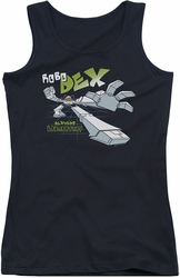 Dexter's Laboratory juniors tank top Robo Dex black