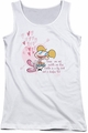 Dexter's Laboratory juniors tank top Rose's Are Red white