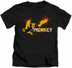Dexter's Laboratory kids t-shirt Monkey black