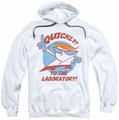 Dexter's Laboratory pull-over hoodie Quickly adult white
