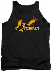Dexter's Laboratory tank top Monkey mens black