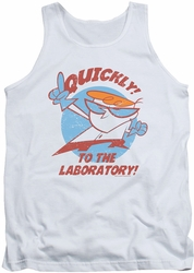 Dexter's Laboratory tank top Quickly mens white