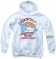 Dexter's Laboratory youth teen hoodie Quickly white